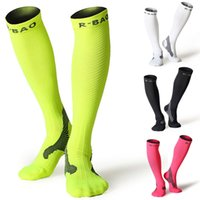 Wholesale anti friction socks - 5 Colors Compression Socks 10-25mmHg For Women & Men Best For Running Athletic Sports Flight Travel Football Anti-friction Breathable G497Q