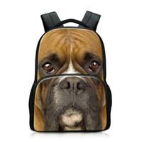 nette schulnotizbücher großhandel-Cute Dog Prints 3D Tier Laptop Rucksack Große Kapazität Frauen Rucksäcke Männer Schulter Schultasche Notebook Teens Rucksack