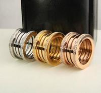strass ringe gelbgold großhandel-2018 luxus titanium edelstahl elastische multiwall strass ringe gelb gold rose gold silber metall farben frauen männer hochzeit schmuck