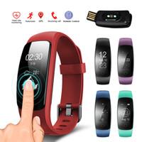 gps bilek bilezik toptan satış-ID107 Artı İK Akıllı Bilezik Kalp Hızı Monitörü ID107Plus GPS Etkinlik Spor Bileklik Sağlık Spor Izci Bilek Bandı SmartBand