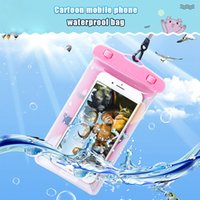 Wholesale Cute Cartoon Waterproof Pouch Cover For iPhone XR XS S Plus Samsung Galaxy S8 S9 Underwater Dry Bag Swimming Water Proof Phone Case