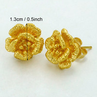 gifts for girls Australia - arings for girls Anniyo 1.3CM Gold Color Small Earrings for Girls Women's, Flower Plant Jewelry Gifts Arab Middle East,African Items #004...