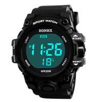 c316fcef228e Reloj deportivo Impermeable Niños Niños Digital LED Relojes deportivos Niños  Alarma Fecha Reloj Regalo 2018