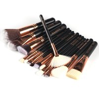 Wholesale good cosmetics brands for sale - 15 Pieces Set Good Quality Makeup Brushes Professional Foundation Powder Blush Cosmetics Make Up Brush Tools Brand MAANGE