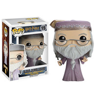 Wholesale Albus Dumbledore - Funko POP Magic Film Harry Potter Albus Dumbledore Hand Ornaments Model Q version Doll Toy Albus
