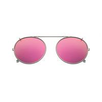 clip polarizado de los vidrios de conducción al por mayor-Clip polarizado redondo en gafas de sol Unisex Pink Coating Mirror Gafas de sol Driving Metal Oval Shade Clip en gafas uv400