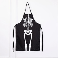 85221832a Wholesale arts skeletons online - Novelty Adult Apron Halloween Scary  Skeleton Ghost Long Aprons Cooking Painting