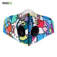 Wholesale Bike Mask Pollution - Wholesale- WOSAWE Anti-pollution City Cycling Face Mask Mouth-Muffle Activated Charcoal Filter Dust Mask Bicycle MTB Road Bike Mask Cover