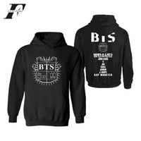 Wholesale women s group - 2017 BTS Bangtan Boy Group Member Fans Kpop Cotton Hoodies Sweatshirt Men Women Hoodies Streetwear Plus Size
