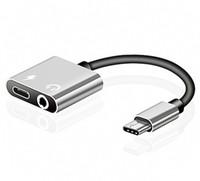 adaptador jack auxiliar usb venda por atacado-2 em 1 tipo c aux adaptador de cabo de áudio usb tipo c para 3.5mm fone de ouvido jack adaptador de carregamento de carga para samsung telefone inteligente 300 pçs / lote