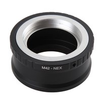 Wholesale nex lens adapters - Camera Lens Mount Adapter Ring M42-NEX For M42 Lens And For SONY NEX E NEX3 NEX5 NEX5N Lens Mount Adapter Ring Camera