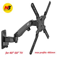 """Wholesale motion max - NB F450 Gas Spring 40""""-50"""" LED LCD TV Wall Mount Full Motion Monitor Holder Arm Load 17.6-35.2lbs(8-16kgs) Max. VESA 400*400mm"""