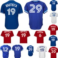 Wholesale embroidery collection - Men's #19 Jose Bautista 29 Joe Carter 12 Cooperstown Collection Jersey blue White Red stitched Embroidery Baseball Jerseys Cheap sales