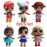 Wholesale boneca toys for sale - 6 Cute LOL Doll Boneca Baby Glitter Model Children Girl Birthday Gift Dress Egg Anime Action Figure Toys Educational Toys