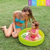 aufblasbare baby-pool-bad groihandel-Intex Mein Baby Pool Im Freien Kinder Badewanne Babys Schwimmbäder Badeeimer Aufblasbarer Kreis Bunt Schöne 12 9jr gg