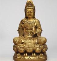 laiton sud achat en gros de-+ Laiton, sud sans statue de déesse de la miséricorde, Bodhisattva Avalokitesvara