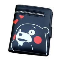 kılıç kız çevrimiçi toptan satış-Kızlar için cüzdan Totoro / Kumamon / Siyah Butler / Sword Art Online / Gintama / Fermuar Kılıfı Kart Tutucu Ile ONE PIECE sevimli çanta