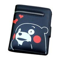totoro wallets großhandel-Portemonnaie für Mädchen Totoro / Kumamon / Black Butler / Schwert Art Online / Gintama / ONE PIECE süße Geldbörse mit Reißverschluss-Etui Kartenhalter
