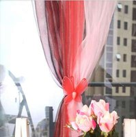 Wholesale red sheer curtains - New Fashion 1Pcs 100*270cm Sheer Window Treatment Curtain voile curtains Gauze Curtain
