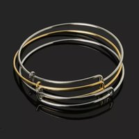 pulseiras de ferro chapeado venda por atacado-Atacado-Hot Selling Ouro / Ródio Banhado Expansível Pulseira de Ferro Pulseira de Moda Fio Pulseiras para As Mulheres de Jóias