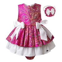 Wholesale baby girl outfits hot pink resale online - Pettigirl Baby Girls Clothing Sets Hot Pink Kids Outfit Girls Flower Print Tops Skirted Shorts Children Clothes G DMCS101 B211