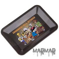 teller m großhandel-Aschenbecher mit M / S Größe Cartoon Rolltablett für Kräuter-Metall-Teller Rauchen Zubehör ADT003