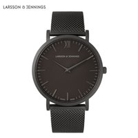 Wholesale pin straps - Famous Montre Fashion Brand larsson and jennings Watches For Men and Women Dress Quartz Watch Leather Stainless Steel Strap Sport Watches