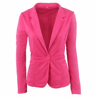 Wholesale candy colored clothes online - women suit coat candy colored casual jacket coat for women lady causal jacket outerwear clothing