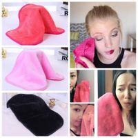 Wholesale wholesale makeup towels - Microfiber Cloth Makeup Remover Towel Face Cleansing Cloth Facial Makeup Clean Pads Water Towel Tools 3 Colors AAA349