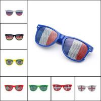 autocollant lunettes de soleil achat en gros de-Bar Party Fan Lunettes de soleil Coupe du monde Lunettes Drapeau national Lunettes de soleil autocollant lunettes 36 couleurs en option T4H0485