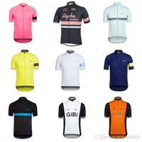 Wholesale red black bike jersey - 2018 Rapha Cycling Jerseys Short Sleeves Cycling Clothes Bike Wear Comfortable Anti Pilling Hot New Rapha Jerseys C1409