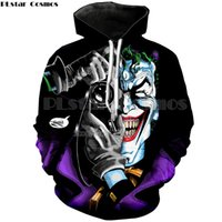 Wholesale hoodies joker - PLstar Cosmos New Men's Sweatshirts The Joker Suicide Squad 3d Hoodie Men Women Hip Hop Hoodies Comic Clown Printing Pullovers