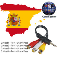 Wholesale free account - CCCAM 1 year 6 Clines HD Germany UK Canal Italy Spain France 12 Months account free trial Satellite Decoder Server Receiver AV Cab