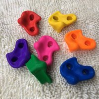 Wholesale plastic playgrounds for sale - Durable Plastic Rock Climbing Stone For Children Outdoor Indoor Playground Toys Sports Hold Wall Kit Multi Colors mt B