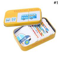 montessori malzemeleri toptan satış-Bebek Aydınlanma Erken eğitici oyuncaklar Bilişsel Kart Meyve / Hayvanlar / Trafik 3D Kartları Montessori Materyalleri İngilizce Oyunlar Çocuklar