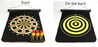 Wholesale Darts Sets - In 2018,the new magnetic dart board set, target toy, parent safety double-sided flocking magnetic dart board.