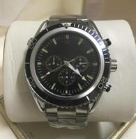 movimento cronógrafo relógio mecânico venda por atacado-Luxo Mens Watch Oceano Co-Axial de Aço Inoxidável Movimento Mecânico Automático Cronógrafo James Bond 007 relógios de pulso dos homens dos homens