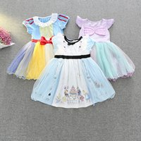 Wholesale Lace Tutu Baby Girls Formal Dresses Princess Baby Kids Girl Bowknot Skirt Christmas Wedding Party Formal Dresses Girl Gown Vestidos