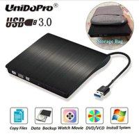 laptop ide sürücüler toptan satış-SıCAK USB 3.0 DVD kaydedici Harici Optik Sürücü DVD Burner İnce Ultra DVD-ROM Çalar Dizüstü Laptop Için Taşınabilir Sucker Sürücü