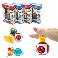 Wholesale Magnetic Finger - Magneto Sphere Ball with 3 Bearings Dazzling Light Battle Game Ball with Power Ring Magic Magnetic Finger Induction Balls Finger Toys