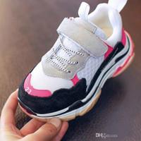zapatillas anchas al por mayor-Discount 2018 New Children Sneakers Sports Boys Shoes Spring Girls Zapatos para correr transpirables