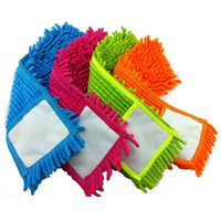 Wholesale chenille cloth - 4 pcs Replacement pad for flat mop,mops floor cleaning pad,chenille flat mop head replacement refill,head to floor mops