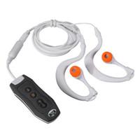 ingrosso auricolari per il nuoto-2016 Più nuovo IPX8 impermeabile MP3 FM Radio nuoto immersioni Sport Auricolare impermeabile con memoria 4G