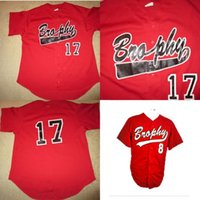 Wholesale games high school - Brophy College Prep Broncos High School Baseball Team Game Jersey 100% Stitched Custom Baseball Jerseys Any Name Any Number Red S-XXXL