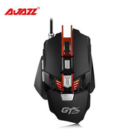 Wholesale Wrist Weights Adjustable - Ajazz GTX E-sport Gaming Mouse 4000 DPI 7 Buttons Wired USB 2.0 Optical Mouse Adjustable Wrist Pad Weight Breathing LED Light