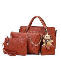 ayı torba toptan satış-Pembe sugao 9 renkler ile Kompozit moda çanta ayı Lashes çanta tasarımcısı tote çanta çapraz vücut çanta kadın haberci omuz çantası