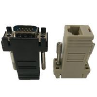 vga genişletici adaptör toptan satış-VGA RJ45 konnektörüne Yeni VGA Genişletici Kadın Lan Cat5 Cat5e RJ45 Ethernet Dişi Adaptör
