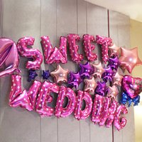 """Wholesale Cheap Toys For Christmas - """"sweet wedding"""" Party Decorations Letters Balloon Cheap Sweet Party Balloons for Christmas Party Supplies For Wedding Event Decorations"""