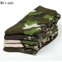 vestido de estilo do exército venda por atacado-5 pares homens meias 2017 NOVA primavera soldados do exército estilo algodão meias masculinas vestido de alta qualidade Camuflagem para homens