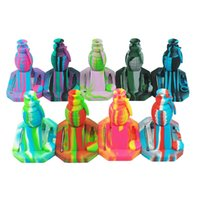 Wholesale piping tip designs - New design Grenade Silicone Nectar Collector kits with 14mm Titanium Tip Multi color nectar collector oil rigs glass bong pipe